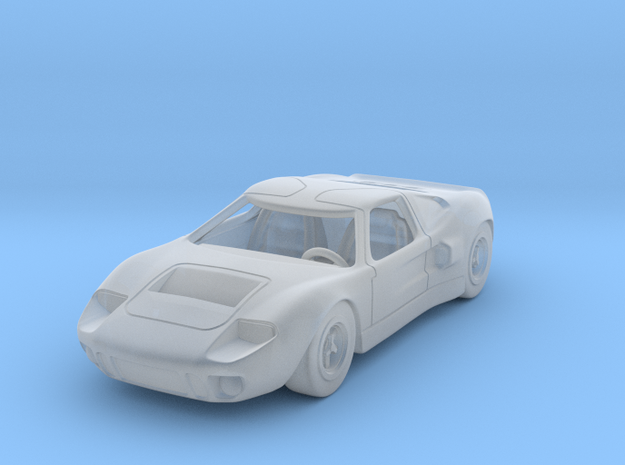 Ford GT40 1:87 HO in Smooth Fine Detail Plastic