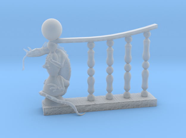 Railing Lizard Miniature in Smooth Fine Detail Plastic: 28mm