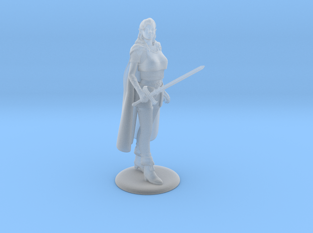 Sidhe Elven Fighter/Magic-User in Smoothest Fine Detail Plastic: 28mm