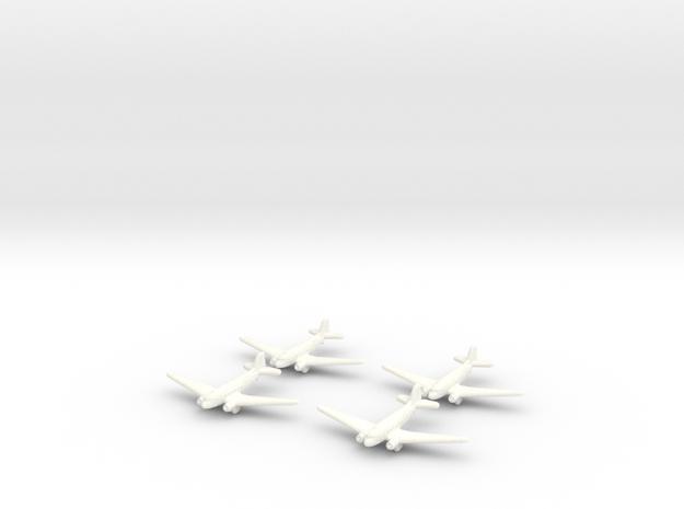 C-47 Skytrain Transport-GW-Tabs-(Qty. 4) in White Processed Versatile Plastic