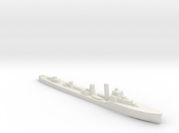 British V/W Destroyer SR Escort 1:1200 WW2 in White Natural Versatile Plastic