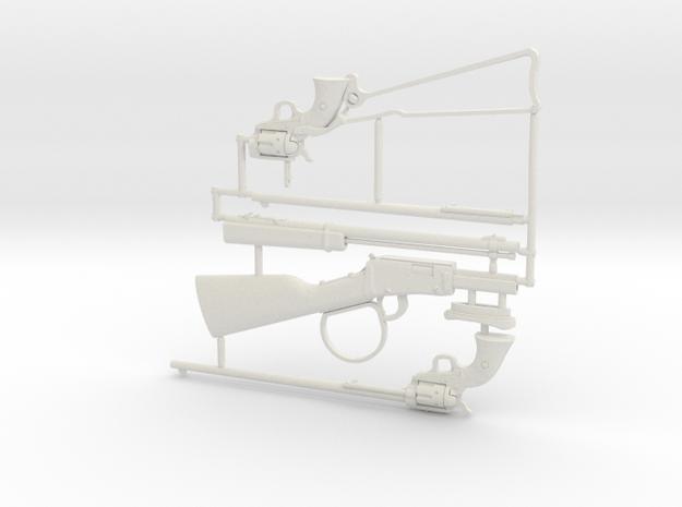 1:6 rifle & revolver set in White Natural Versatile Plastic