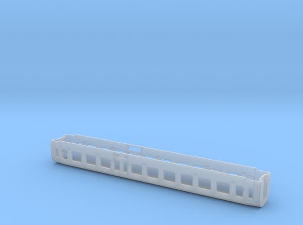 1:160-passenger/baggage car PKP 609A - 2 class in Smoothest Fine Detail Plastic