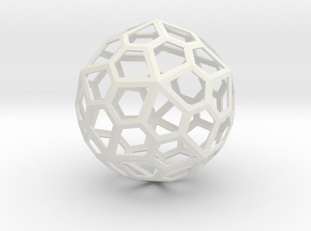 gmtrx lawal skeletal pentagonal hexecontahedron  in White Natural Versatile Plastic