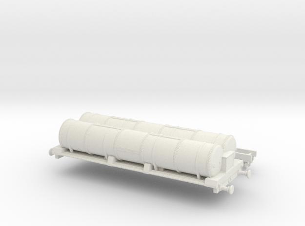 HO scale LBSCR 6W Gas Tank Wagon Ver. 1 in White Natural Versatile Plastic
