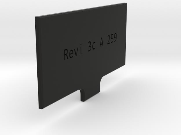 Revi 3C light flap in Black Natural Versatile Plastic
