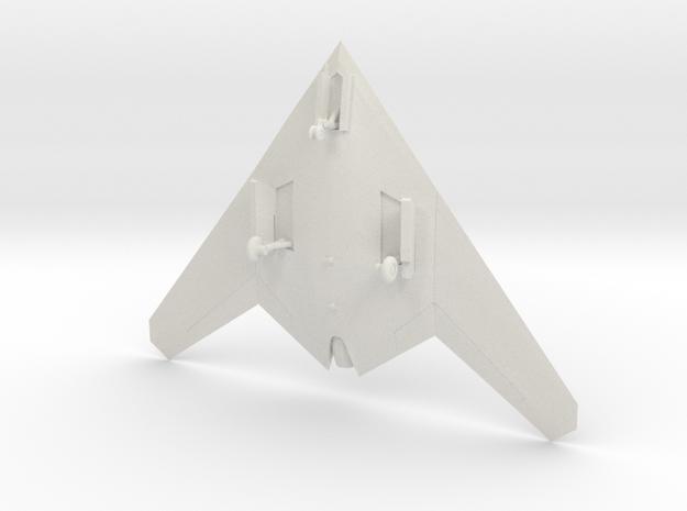 Sukhoi S-70 Okhotnik-B UAV w/Landing Gear in White Natural Versatile Plastic: 1:144