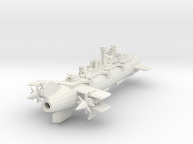 Neo Bolshevik 1919 Aerial battleship Alexander Nev in White Natural Versatile Plastic