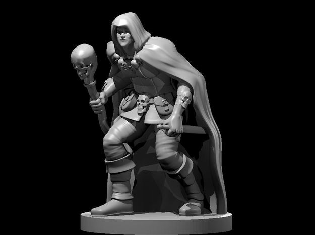 Half Elf Warlock 4 in Smooth Fine Detail Plastic
