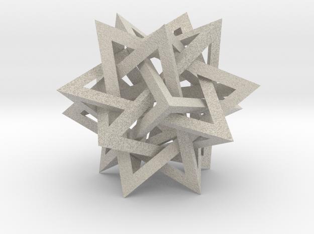 Intersecting Tetrahedra 3d printed