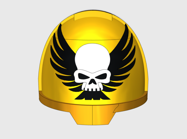 10x Winged Skull - G:13a Shoulder Pads in Smooth Fine Detail Plastic