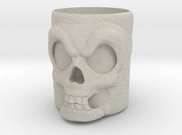 Murray Skull Cup in Natural Sandstone