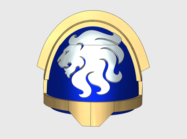 10x Celestial Lions - G:12a Right Shoulders in Smooth Fine Detail Plastic