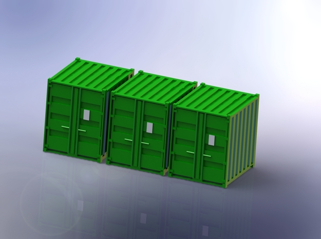 Tricon Container 1/144 in Smooth Fine Detail Plastic