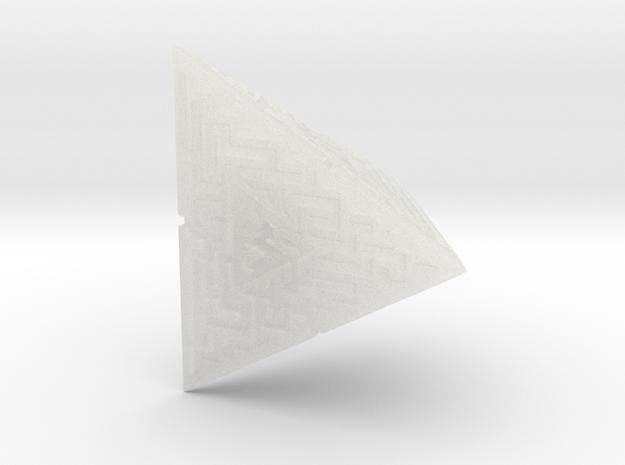4 Sided Maze Die 3d printed