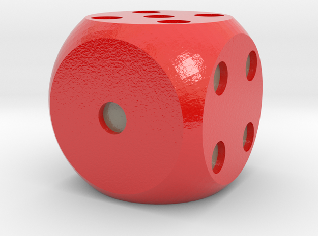 Rigged Dice in Glossy Full Color Sandstone