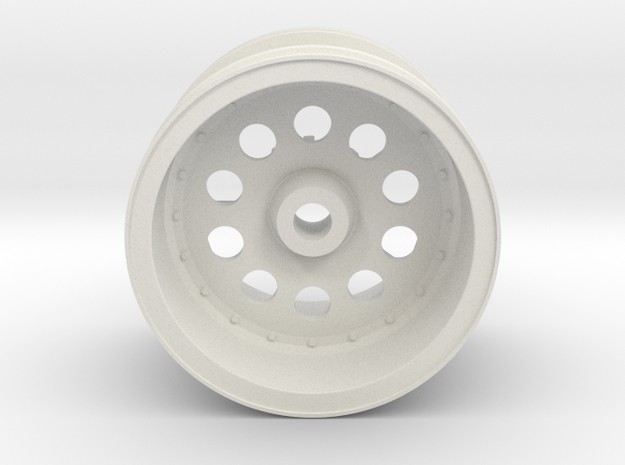 Rear Wheel  Lancia Rally 037 Tamiya 58040 in White Natural Versatile Plastic