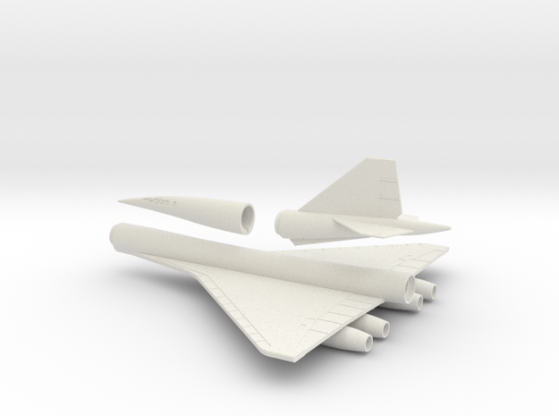 1/144 BOEING 2707-300 SST SUPERSONIC TRANSPORT in White Natural Versatile Plastic