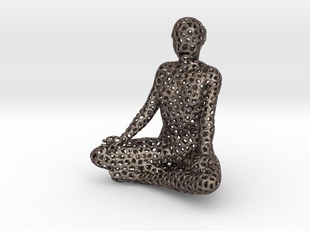 meditating voronoi in Polished Bronzed-Silver Steel