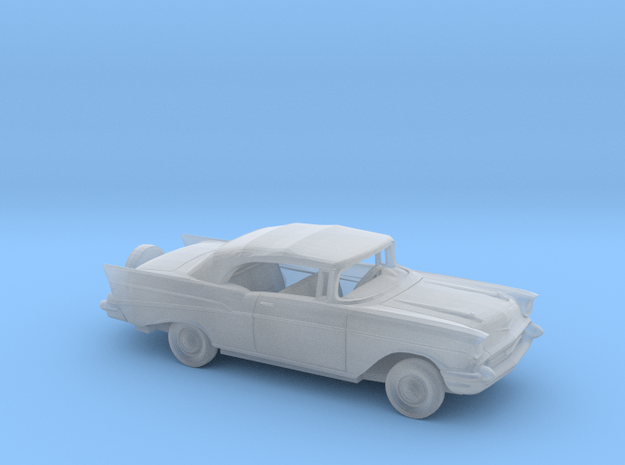 1/87 1957 Chevy BelAir Clo.Conv. w Continental Kit in Smooth Fine Detail Plastic