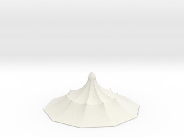Austauschdach IHC-Carousel 1 für 1:87 (H0 scale) in White Natural Versatile Plastic