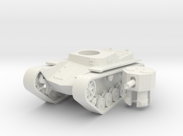1/100 Chaos Mountain Tank in White Natural Versatile Plastic