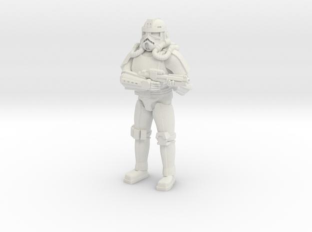 Jet Trooper in White Natural Versatile Plastic