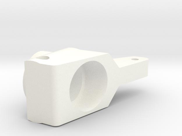 RC10 REAR HUB 0 DEGREE in White Processed Versatile Plastic