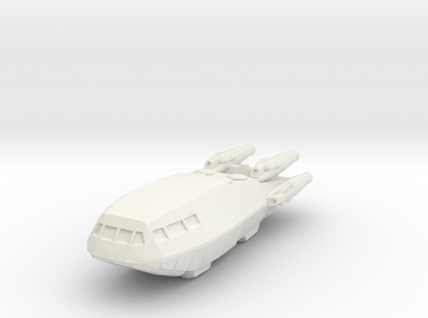 BSG Colonial Shuttle MkII V4 in White Natural Versatile Plastic