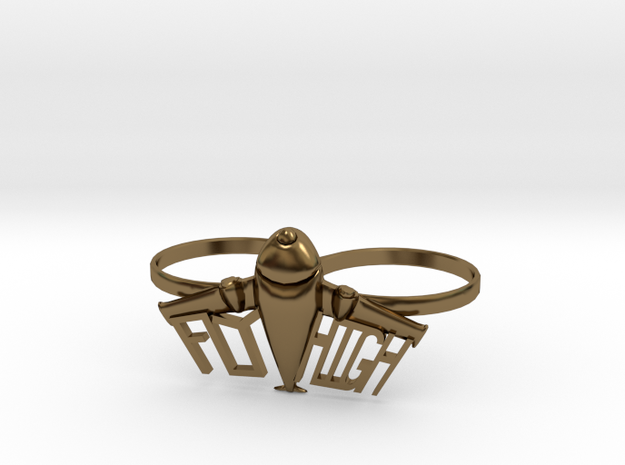 Plane Double Ring 3d printed