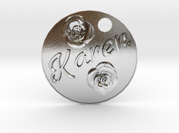 Karen Pendant in Polished Silver
