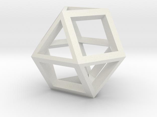 gmtrx lawal skeletal cuboctahedron v2 design  in White Natural Versatile Plastic