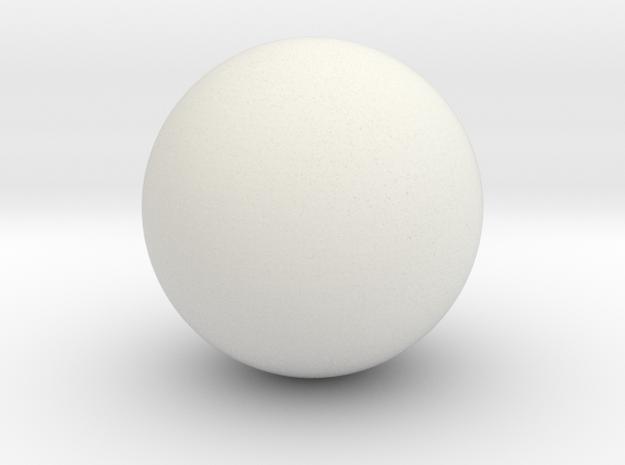 Hollow Sphere 3 cm diameter in White Natural Versatile Plastic