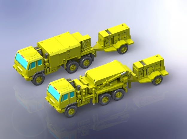 AN/TPQ-53 Radar (travelling) 1/144 in Smooth Fine Detail Plastic