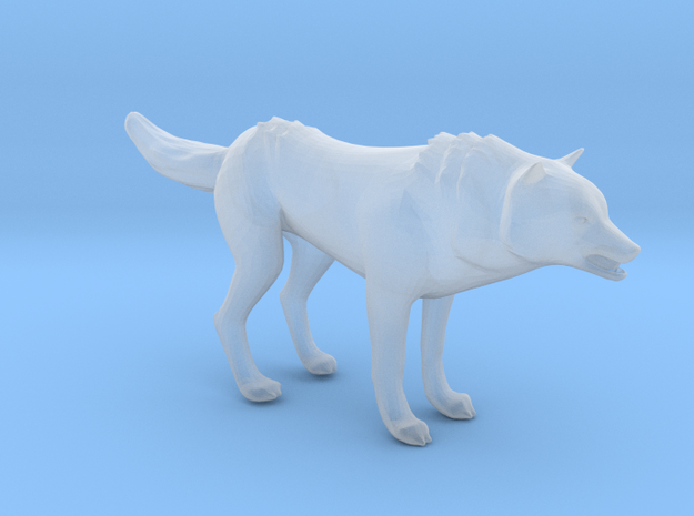 Plastic Gray Wolf v1 1:48-O in Smooth Fine Detail Plastic