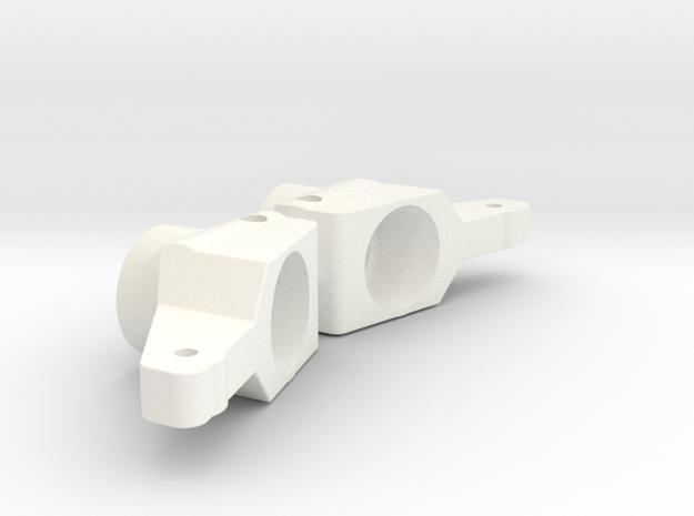YOKOMO 870C HIROSAKA WORLDS RC10 REAR HUB 0 DEGREE in White Processed Versatile Plastic