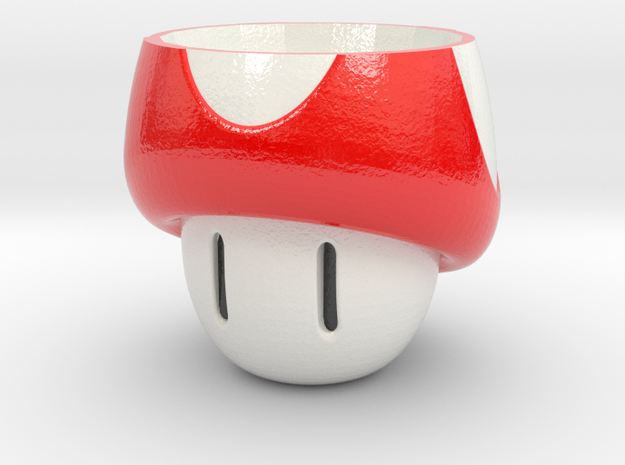 Mushroom Cup in Glossy Full Color Sandstone