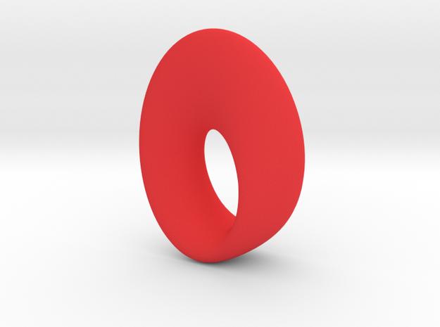 mobius torus oval 33 x 23 mm 3d printed
