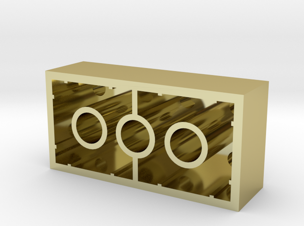 Gold Lego Brick in 18K Yellow Gold