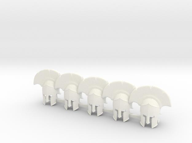 5 x Hopelite Helmet in White Processed Versatile Plastic