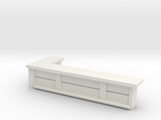 Bar Counter (left corner) 1/64 in White Natural Versatile Plastic