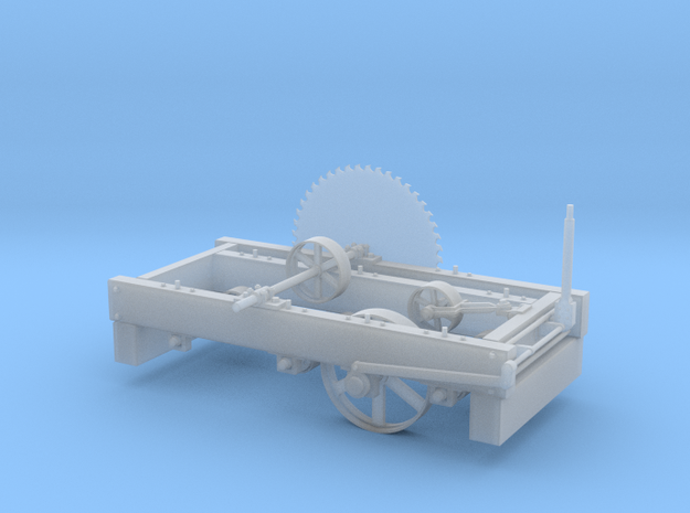 Heavy Lumber Mill Saw Husk in Smooth Fine Detail Plastic