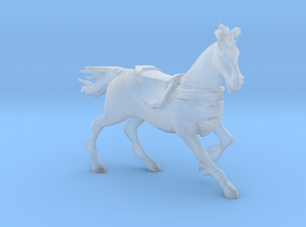 Plastic Riding Horse v1 1:64-S 25mm in Smooth Fine Detail Plastic