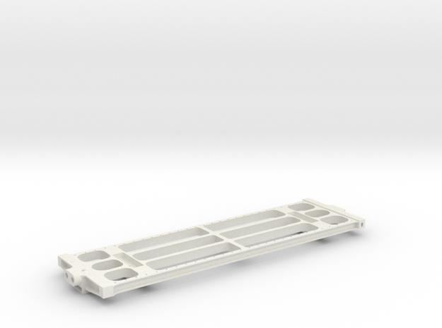 "3/4"" Scale USRA 10,000 Gallon Tender Frame in White Strong & Flexible"