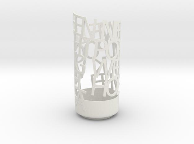 Light Poem new 1 in White Natural Versatile Plastic