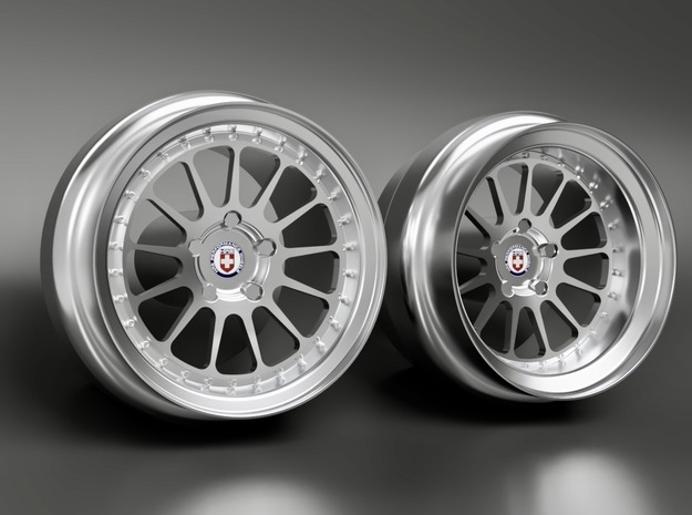 1/64 scale HRE 303 - two piece - 9mm Dia in Smoothest Fine Detail Plastic