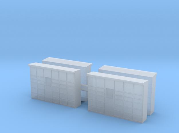Parcel Locker (x4) 1/200 in Smooth Fine Detail Plastic