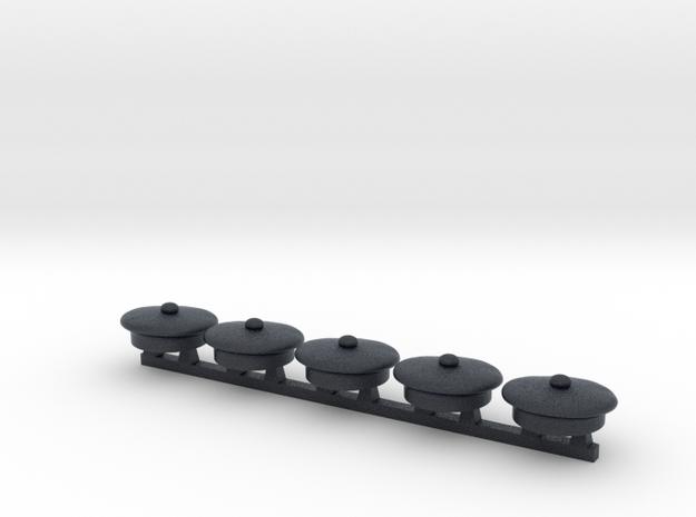 5 x Italian Sailor Cap in Black PA12