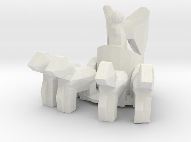 Brandeburg Gate Sculpture 1/125 in White Natural Versatile Plastic