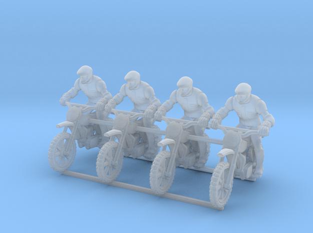 MX Bike Rider 4P 1:100 in Smooth Fine Detail Plastic